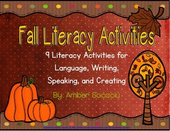 Fall Literacy Activities for Centers or Whole Group