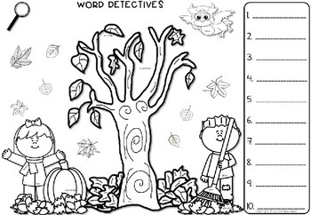 Autumn Literacy Bundle - Games and Worksheets