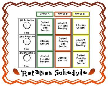 Autumn Literacy Center Schedule