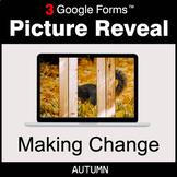 Autumn: Making Change - Google Forms Math Game | Distance