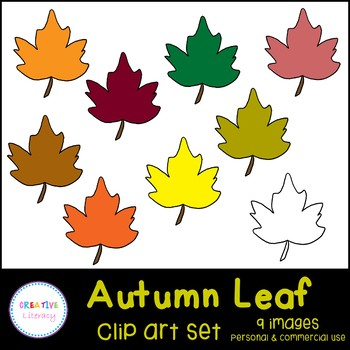 Autumn Maple Leaf Clip Art Set