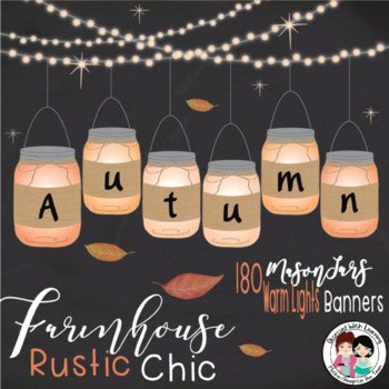 Autumn Mason Jars (Editable) Banners
