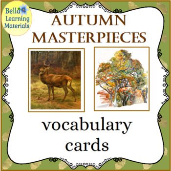 Autumn Masterpieces Montessori  Cards