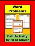Fall Math Addition Word Problems