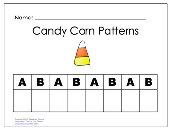 Autumn Math-Candy Corn Patterns