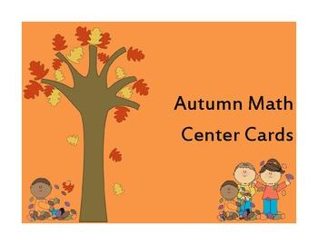 Autumn Math Center Cards