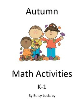 Autumn Math Centers and Activities K-1