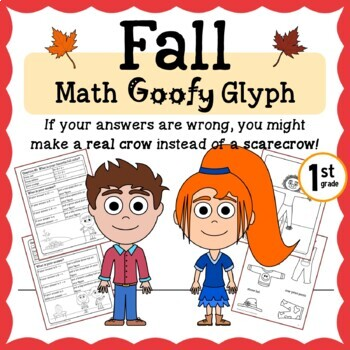 Fall Math Goofy Glyph (1st grade Common Core)