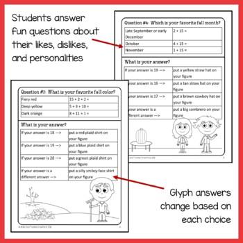 Fall Math Goofy Glyph (2nd grade Common Core)