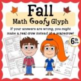 Fall Math Goofy Glyph (6th grade Common Core)