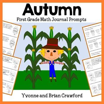 Autumn Math Journal Prompts (1st grade) Fall