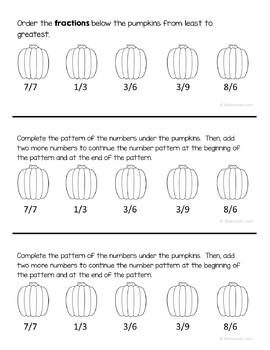 Autumn Math Journal Prompts (3rd grade) - Fall