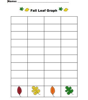 Autumn Math Leaf Graph