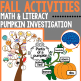 Fall Math and Literacy Centers for Kindergarten and First Graders
