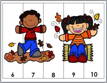 Autumn Math - Number Puzzles 1-10