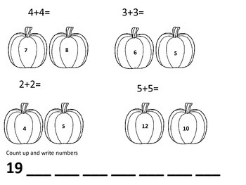 Autumn Math Packet