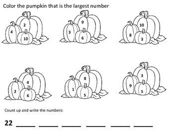 Autumn Math Packet