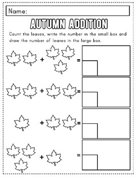Autumn Math Packet- Kindergarten