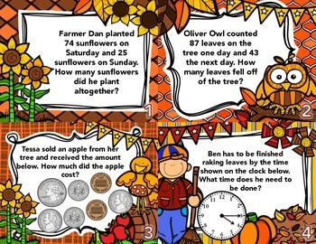 Autumn Math Task Cards