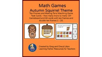 Autumn Math Ten Frames and Making Ten