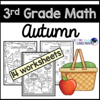 Autumn Math Worksheets Fall Worksheets 3rd Grade Common Core