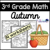 Autumn Math Worksheets Fall 3rd Grade Common Core