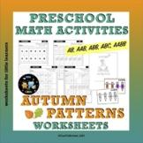 Autumn Math Worksheets on Patterns