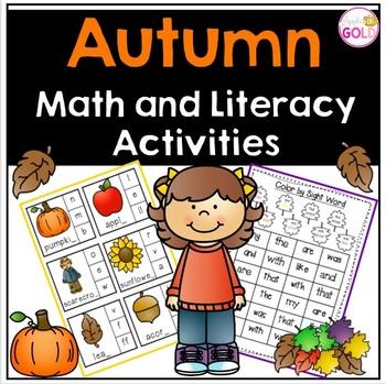 Autumn Math and Literacy Activities