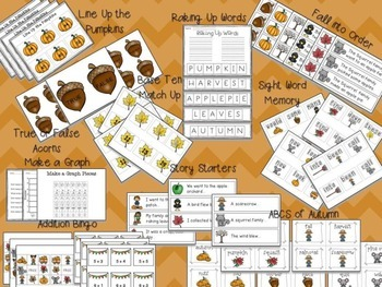 Autumn Math and Literacy Centers