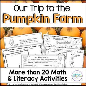 Autumn Math and Literacy at the Pumpkin Farm