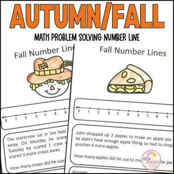 Autumn Fall Math Problem Solving Number Line Strategy 10 Worksheets