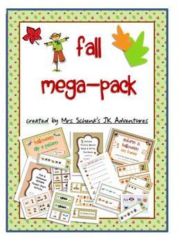 Autumn Mega Pack Literacy and Math Activities
