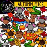Autumn Mice {Creative Clips Digital Clipart}