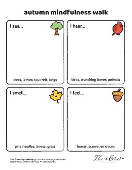 Autumn Mindfulness Walk Worksheet By Flow And Grow Kids Yoga Tpt