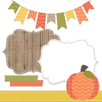 Digital Paper and Frame Mini Set Autumn