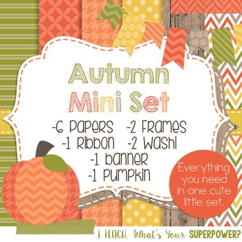 Digital Paper and Frame Mini Set Autumn