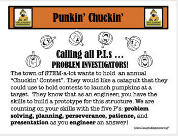 """STEM Mini""""Punkin Chuckin"""": An Engineering Exploration of Levers and Forces"""