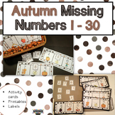 Autumn Fall Counting 1-30