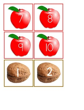 Autumn Montessori Cards And Counters
