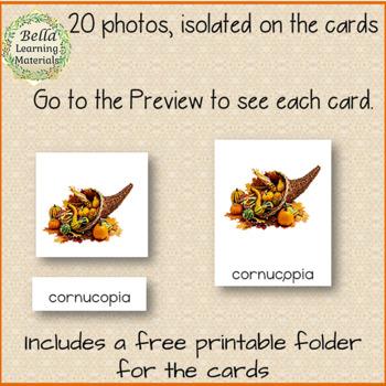 Autumn - Montessori Reading  3-part Cards