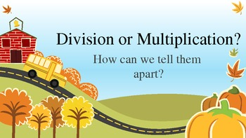 Autumn Mult/Division Lesson