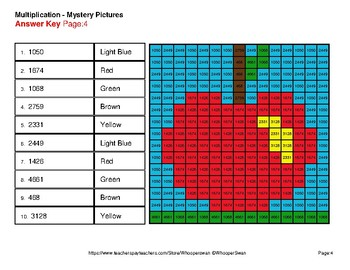 Autumn: Multiplication Mystery Pictures (2-Digit x 2-Digit)