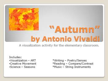 Autumn  - Music, Art, Writing, Reading, and Science lessons