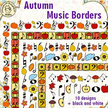 Autumn Music Borders