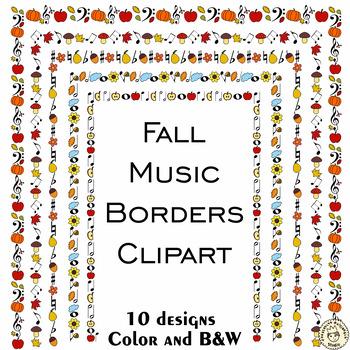 Autumn Music Borders
