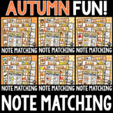 Autumn Music Note Matching Growing Bundle for Fall - Trebl