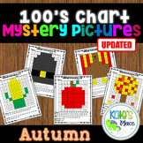 Autumn Mystery Picture 100s Chart