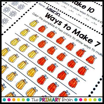 Autumn Math Worksheets