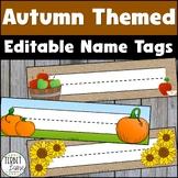 Autumn Name Plates