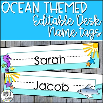 Ocean Themed Name Plates